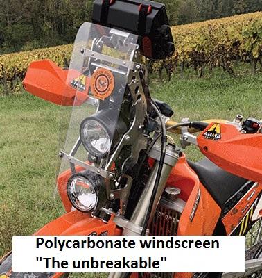 polycarbonate windscreen