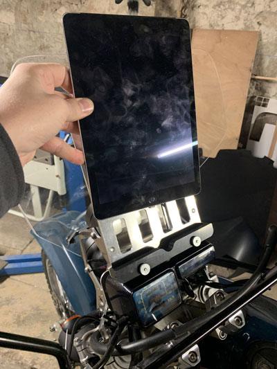 support de tablette moto